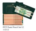FABER 112112 12色粉彩筆套裝(鐵盒裝)