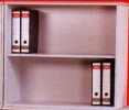 二層開放式文件柜 690mm(高)灰色