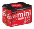 迷你 Zero可口可樂汽水 200ml X 6罐